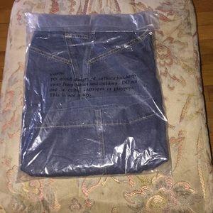 Jean skort with side and back pockets